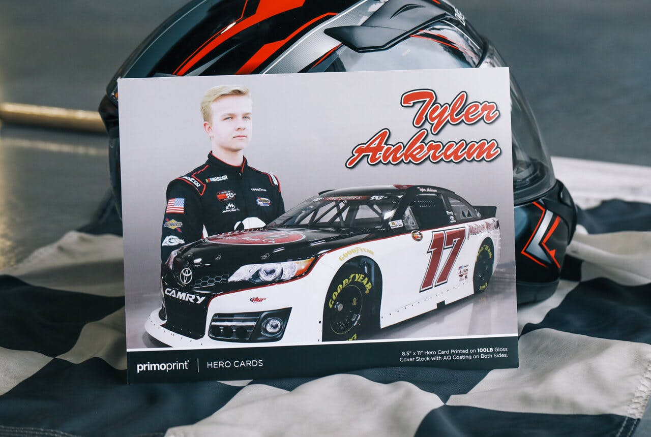 100LB Gloss Race Hero Card