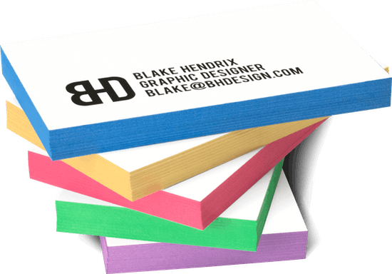 32PT Painted Edge Business Cards