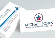 Political campaign printing campaign signs and materials primoprint political business cards reheart Choice Image